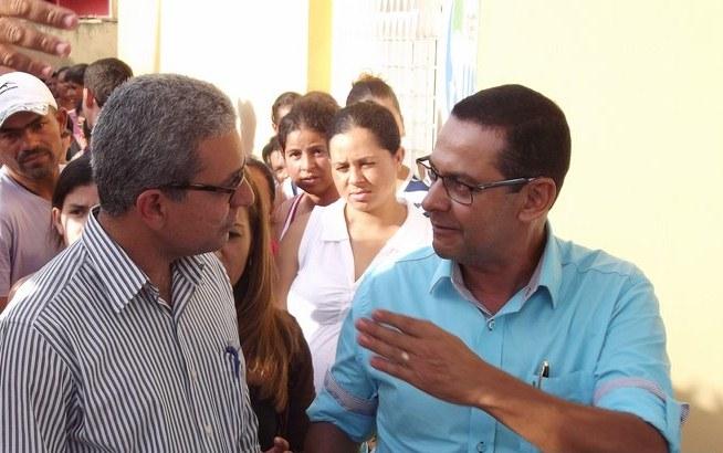 O Prefeito Túlio Vieira e o novo Secretário de Governo, Lúcio Fabrício   Foto: ilustração/blog de Lúcio Fabrício
