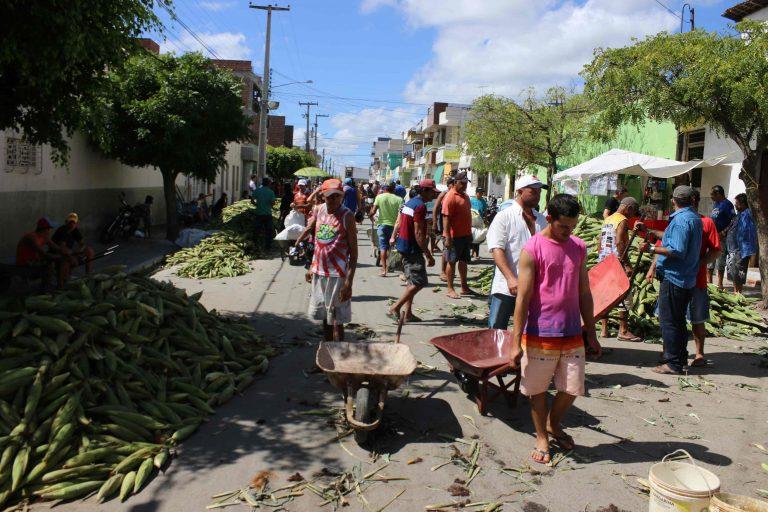 Feira do milho na Rua Urbano Vieira, Centro.   Foto: Lulu/Surubim News