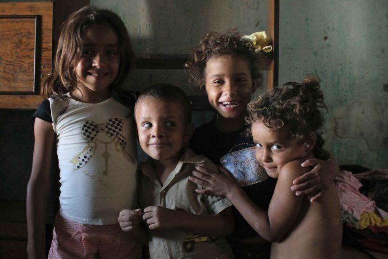 Irmãos: Larissa (10 anos), Luiz Fernando (7), Talita (6), Talia (5). | Foto: Lulu/Surubim News
