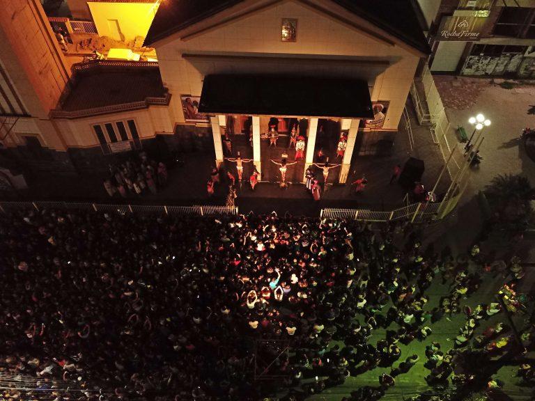 Paixão de Cristo na Matriz de São José. | Foto: Lulu/Surubim News