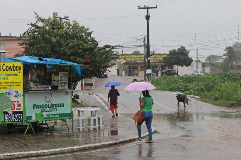 Surubim durante chuvas de julho. | Foto: Lulu/Surubim News