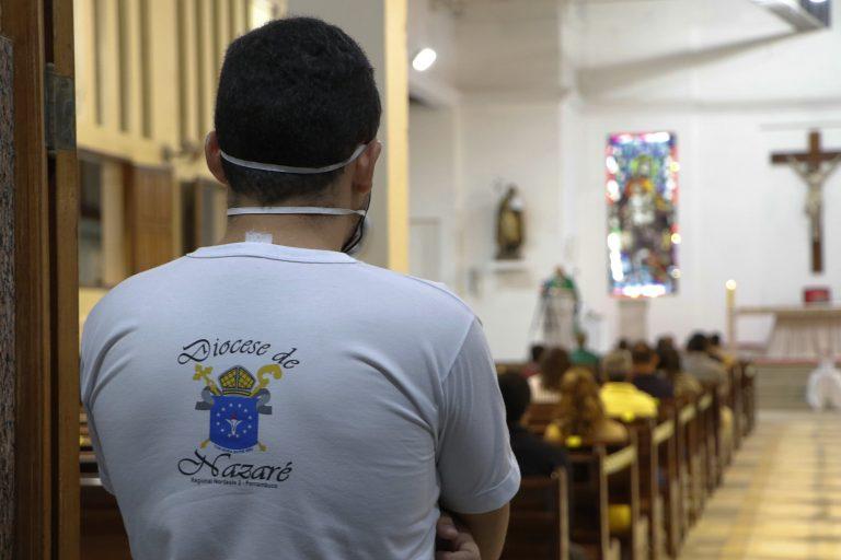 Missa na Matriz de São José de Surubim neste domingo, 12 de julho. | Foto: Lulu/Surubim News